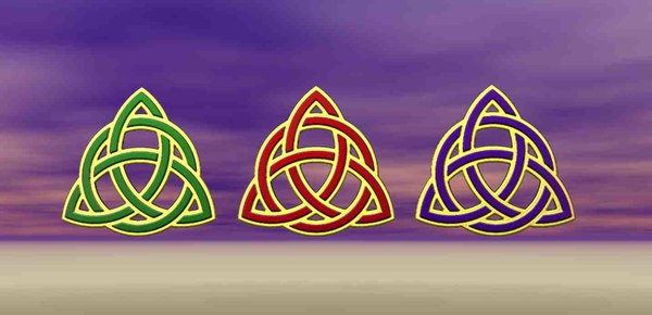 celtic knot trinity symbol 3D model