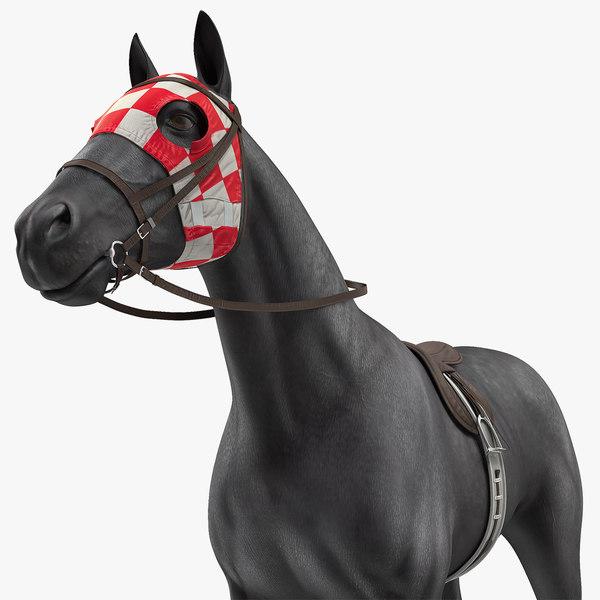 racehorse black horse model