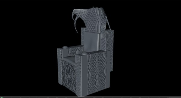 3D throne medieval