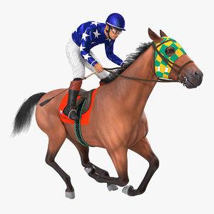 gallop bay racing horse 3D