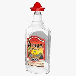 sierra tequila silver 3D model