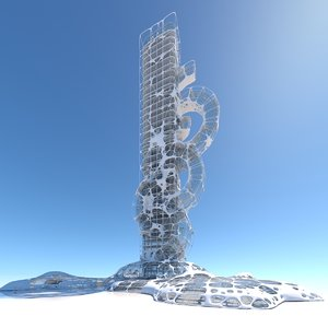 modern futuristic cities building model