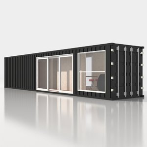 chalet shipping container 3D model