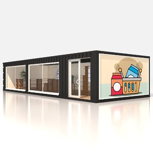 3D store shipping containers