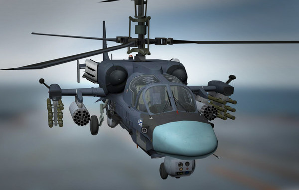 3D russian kamov ka-52k katran model