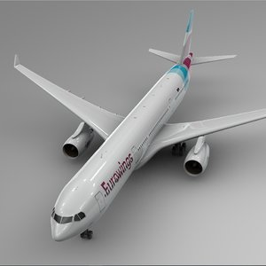 3D airbus a330-300 eurowings l381