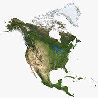 north america continent v2 3D