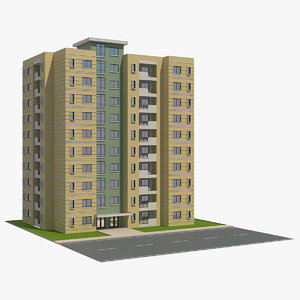 residential building 8 3D model
