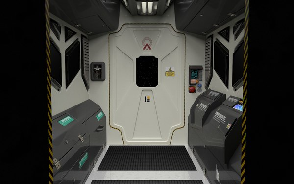 interior spaceship spacestation 3D model