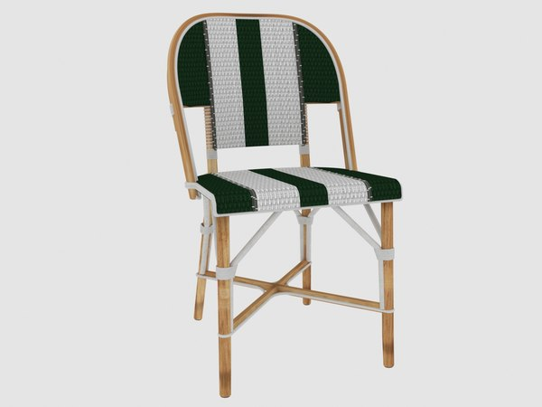 french bistro chair outdoor furniture 3D model