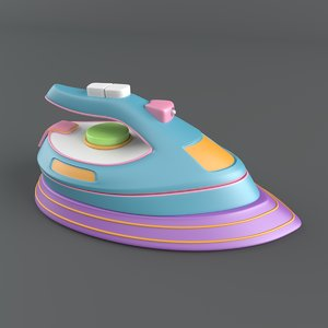 3D model cartoon iron