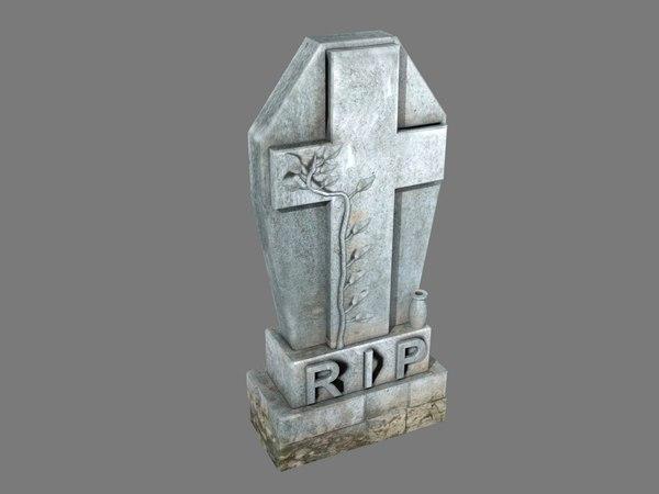 tombstone leafs pbr 3D model