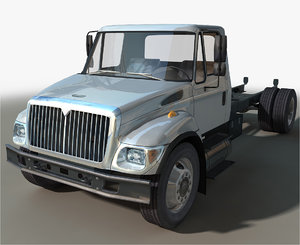 3D generic box truck model