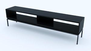 interior black 3D model