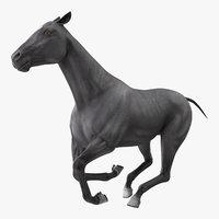 gallop black horse 3D model