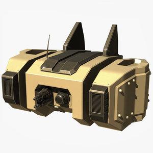 3D model sci fi drone