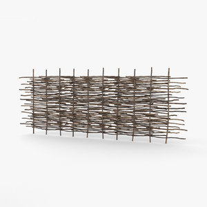 wattle fence 3D model