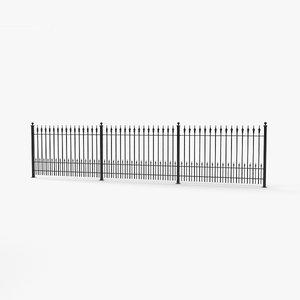 3D model wrought fence iron
