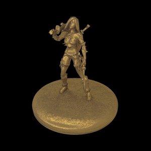 rigged katarina printable 3D