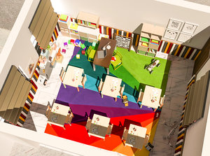 3D model creche kindergarten design