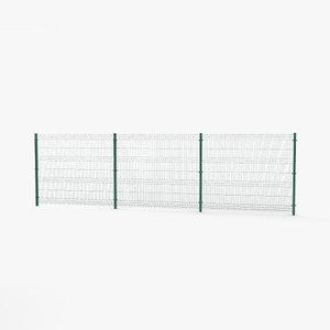 3D mesh panel fence model