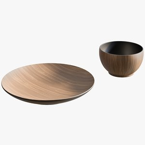 3D model realistic pacific dinnerware