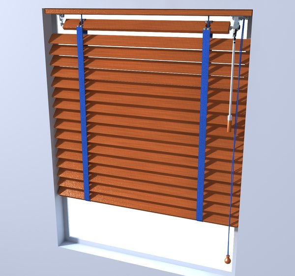 wooden blinds 3D model