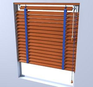 wooden blinds 3D model