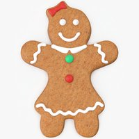 3D model christmas gingerbread woman