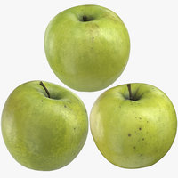 3D granny smith apples 02