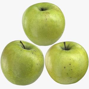 3D granny smith apples 02