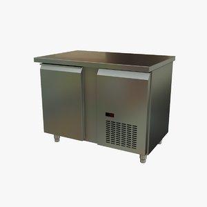 3D stainless steel industrial refrigerator