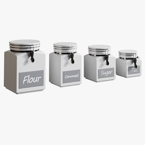realistic clamp canisters model