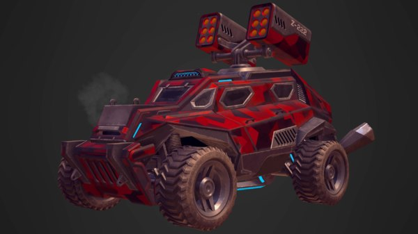 3D sci-fi military vehicles pbr