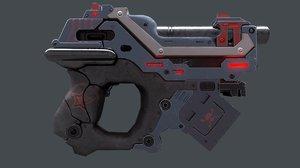 gun sci-fi sci 3D