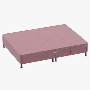 3D model bed base 06 blush