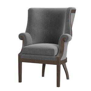 wingback chair jules 3D