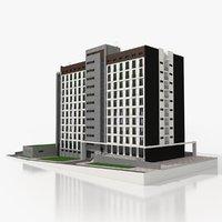 3D residential block model