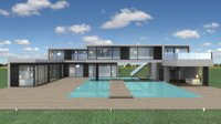 Modern Villa (day&night version)