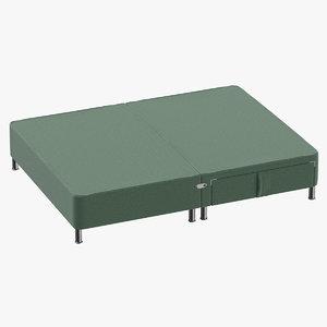 3D bed base 06 mint