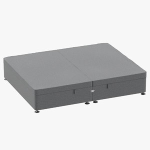3D bed base 07 grey