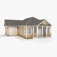 one-story cottage 84 3D model