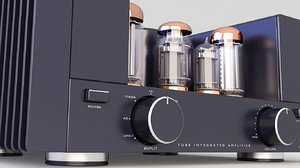 3D hi-fi amplifier tube model