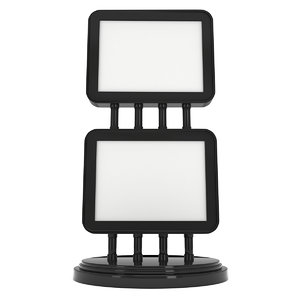 lcd screen stand blank 3D