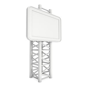 3D lcd screen stand blank