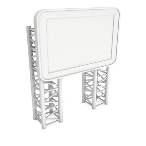 3D lcd screen stand blank model