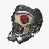 high-poly mask star-lord 3D model