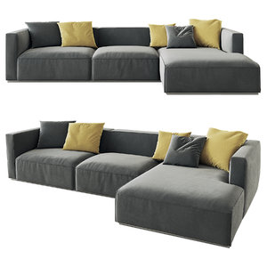 3D model shangai sofa poliform option