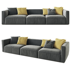 shangai sofa poliform option 3D