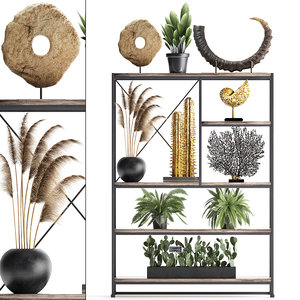 decorative shelf 3D